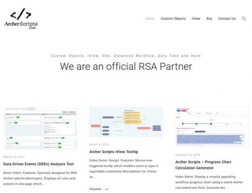 Archer Experts partners with Archer Scripts to provide best-in-class point solutions for RSA Archer GRC Suite